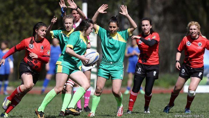 Gruparea de rugby feminin joacă în Cupa României