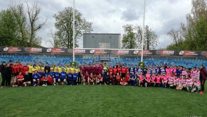 Etapă din campionatul de rugby feminin la Cluj