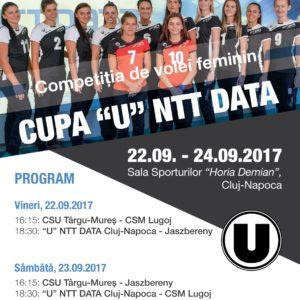 "Vă așteptăm la Cupa ""U"" NTT Data Cluj"