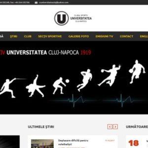 """Site-ul CS """"U"""" Cluj poate fi citit în limba engleză"""