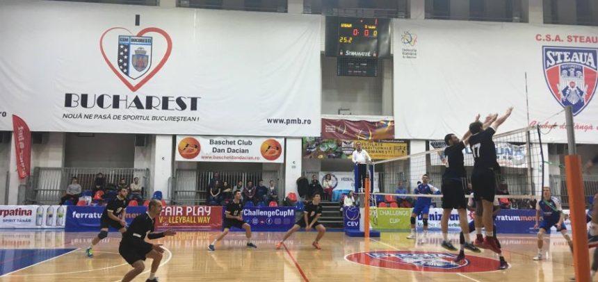 Voleibaliștii au cedat în partida cu Steaua