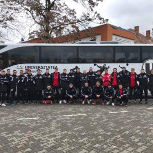 """Alături de echipa de fotbal FC """"U"""" Cluj"""