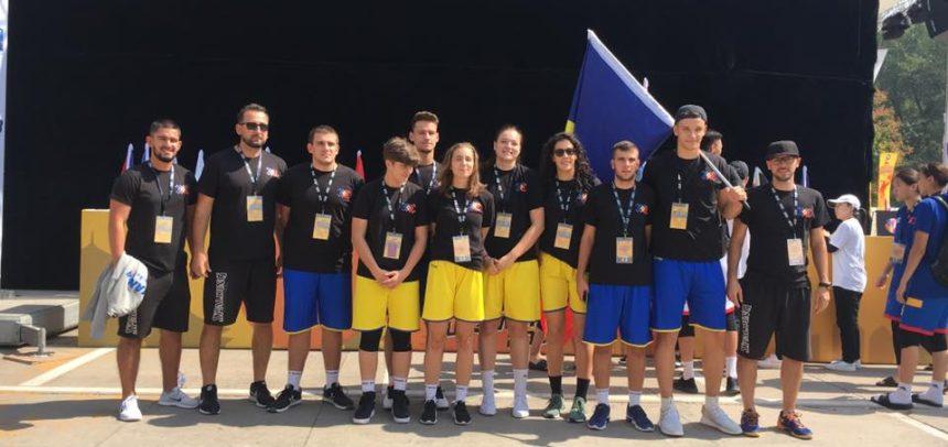 Irina Părău, Nicolett Orban și Carmin Popa la CM U23 de 3X3