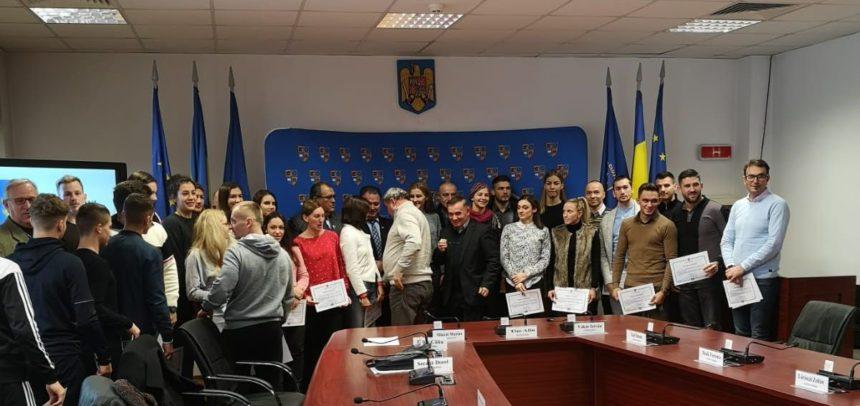 """42 de sportivi ai CS """"U"""" Cluj au fost premiați de Consiliul Județean"""