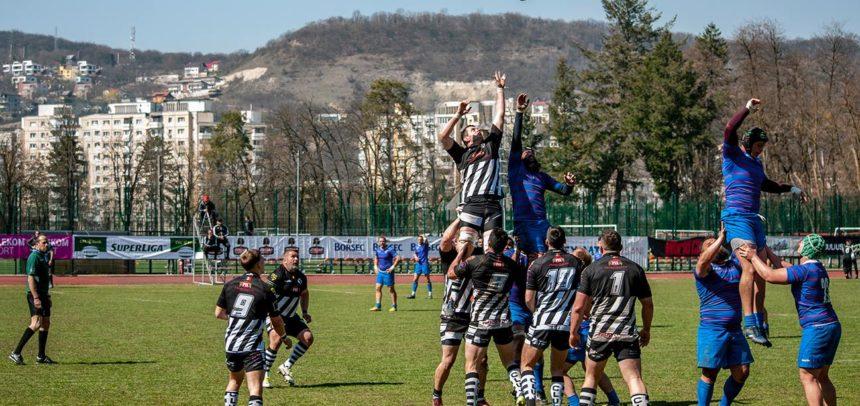Meci frumos făcut de rugbyștii universitari