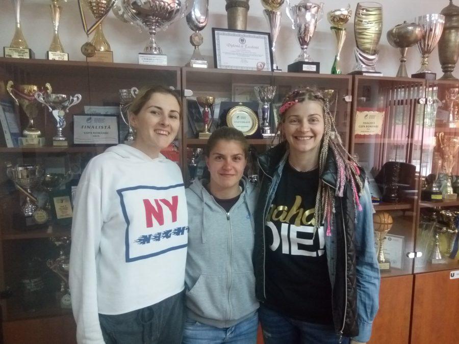 De la stânga: Sorina Răileanu, Angelica Podină și Adina Stanciu