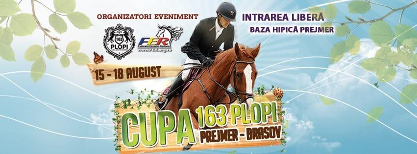 """Doi călăreți participă la Cupa """"163 Plopi"""" Obstacole"""