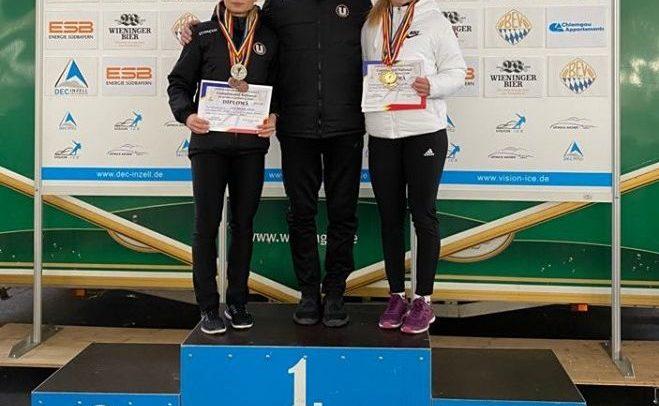"""Zece medalii pentru """"U"""" la naționalele de patinaj viteză"""
