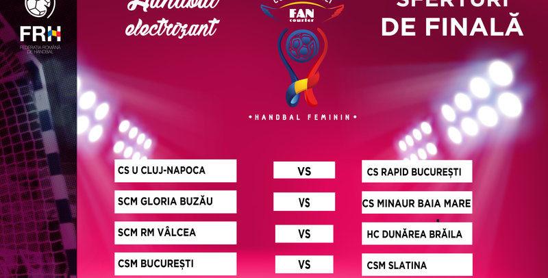 """""""U"""" Cluj – CS Rapid București, în sferturile de finală ale Cupei României Fan Courier"""