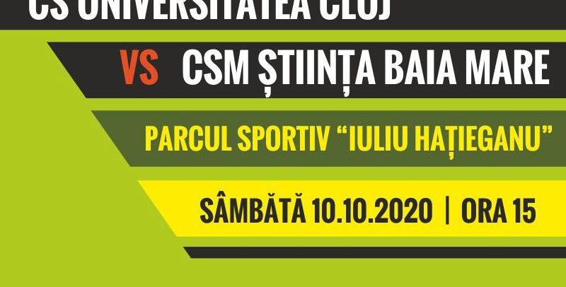 CS Universitatea Cluj – CSM Știința Baia Mare, în Cupa României