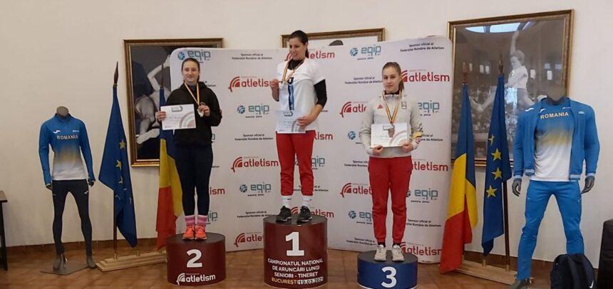 """Trei medalii pentru """"U"""" la """"Naționalele"""" de atletism"""