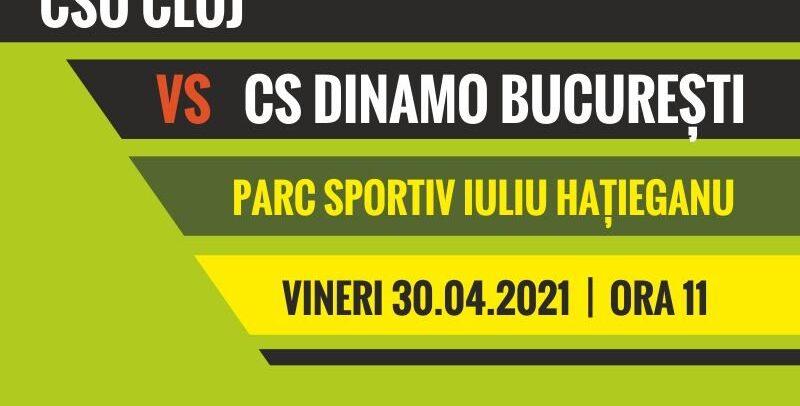 """""""U"""" Cluj-Dinamo București, în Parcul Babeș"""