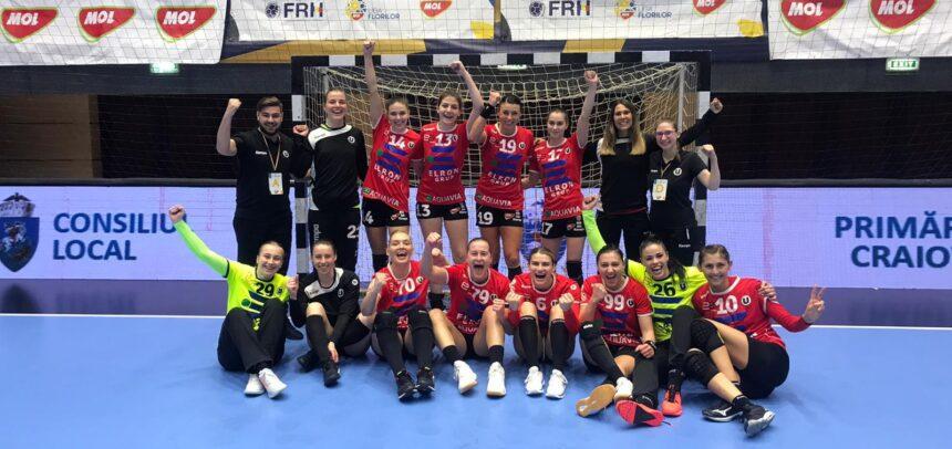 """Victorie mare pentru handbalistele """"U"""" Cluj"""