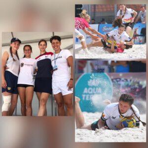 """Fetele de la """"U"""" –  pe podium la """"Europenele"""" de rugby pe plajă"""