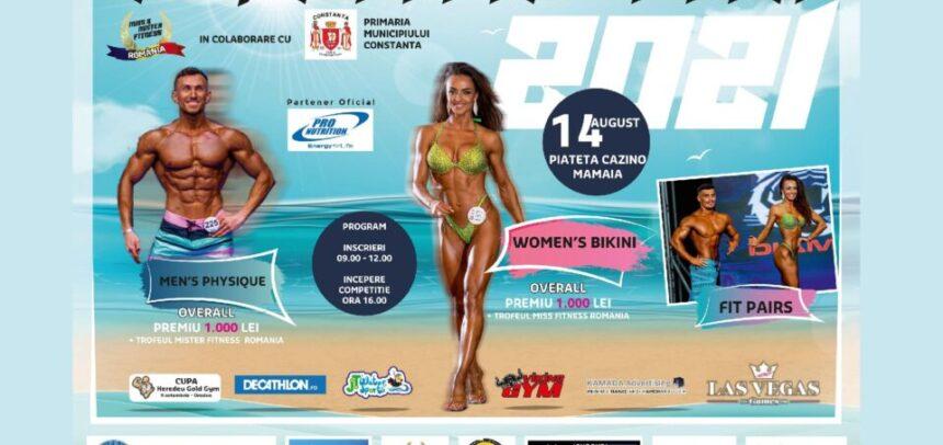 Concurs-spectacol de fitness la malul mării Negre