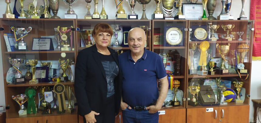 """Carmen Tocală, în vizită la """"U"""" Cluj"""